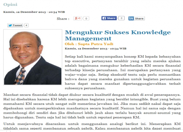 Mengukur Sukses Knowledge Management